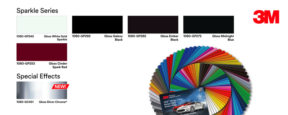 Vehicle Wrap Complete Colour Range